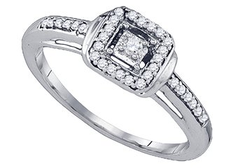 .19 CARAT CUSHION SHAPE CUT DIAMOND ENGAGEMENT PROMISE HALO RING  WHITE GOLD