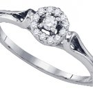 .10 CARAT BRILLIANT ROUND CUT DIAMOND ENGAGEMENT PROMISE HALO RING  WHITE GOLD