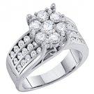 2 CARAT WOMENS DIAMOND ENGAGEMENT RING BRILLIANT ROUND SHAPE WHITE GOLD