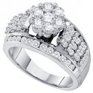 1.50 CARAT WOMENS DIAMOND ENGAGEMENT RING BRILLIANT ROUND SHAPE WHITE GOLD