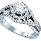.85 CARAT WOMENS DIAMOND ENGAGEMENT RING BRILLIANT ROUND SHAPE WHITE GOLD