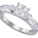 .96 CARAT WOMENS DIAMOND ENGAGEMENT RING BRILLIANT ROUND SHAPE WHITE GOLD