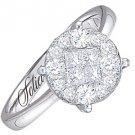 1 CARAT BRILLIANT ROUND CUT SHAPE DIAMOND PROMISE ENGAGEMENT RING WHITE GOLD