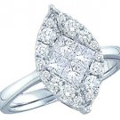 1 CARAT MARQUISE CUT SHAPE DIAMOND PROMISE ENGAGEMENT RING WHITE GOLD