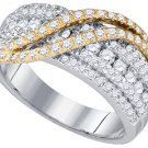1.03 CARAT WOMENS BRILLIANT ROUND CUT DIAMOND RING WEDDING BAND WHITE GOLD