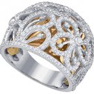 1.17 CARAT WOMENS BRILLIANT ROUND CUT DIAMOND RING WEDDING BAND WHITE GOLD