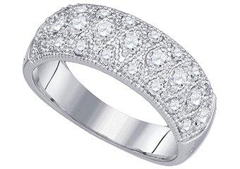 .77 CARAT WOMENS BRILLIANT ROUND CUT DIAMOND RING WEDDING BAND WHITE GOLD