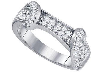 .50 CARAT WOMENS BRILLIANT ROUND CUT DIAMOND RING WEDDING BAND WHITE GOLD