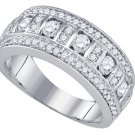 1 CARAT WOMENS BRILLIANT ROUND CUT DIAMOND RING WEDDING BAND WHITE GOLD