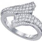 .81 CARAT WOMENS BRILLIANT ROUND CUT DIAMOND RING WEDDING BAND WHITE GOLD