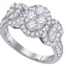 1.42 CARAT WOMENS BRILLIANT ROUND CUT DIAMOND RING WEDDING BAND WHITE GOLD