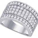 2.01 CARAT WOMENS BRILLIANT ROUND CUT DIAMOND RING WEDDING BAND WHITE GOLD