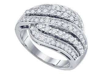 .95 CARAT WOMENS BRILLIANT ROUND CUT DIAMOND RING WEDDING BAND WHITE GOLD