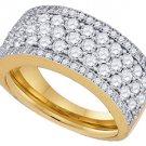1.65 CARAT WOMENS BRILLIANT ROUND CUT DIAMOND RING WEDDING BAND YELLOW GOLD