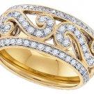 .84 CARAT WOMENS BRILLIANT ROUND CUT DIAMOND RING WEDDING BAND YELLOW GOLD