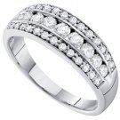 .72 CARAT WOMENS BRILLIANT ROUND CUT DIAMOND RING WEDDING BAND WHITE GOLD