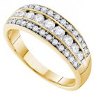 .72 CARAT WOMENS BRILLIANT ROUND CUT DIAMOND RING WEDDING BAND YELLOW GOLD