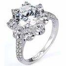 WOMENS DIAMOND ENGAGEMENT RING ROUND CUT 2.13 CARAT 18K WHITE GOLD