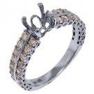 1.10 CARAT WOMENS DIAMOND ENGAGEMENT RING SEMI-MOUNT ROUND SHAPE  WHITE GOLD