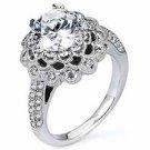 WOMENS DIAMOND ENGAGEMENT HALO RING ROUND CUT 1.82 CARAT 18K WHITE GOLD