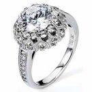 WOMENS DIAMOND ENGAGEMENT HALO RING ROUND CUT 2.19 CARAT 18K WHITE GOLD