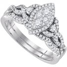 WOMENS DIAMOND ENGAGEMENT PROMISE RING WEDDING BAND BRIDAL SET MARQUISE SHAPE