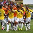 032 -  8 X 6 Photo - Football - FIFA World Cup 2014 - Colombia V Japan Juan Cuadrado Celebration