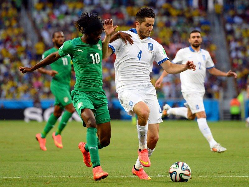 037 -  8 X 6 Photo - Football - FIFA World Cup 2014 - Greece V Ivory Coast Gervinho Konst