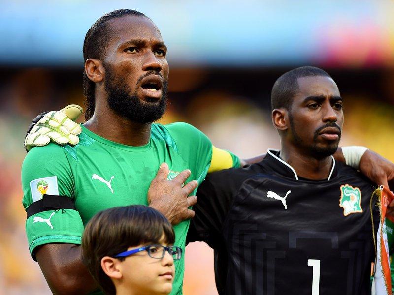 043 -  8 X 6 Photo - Football - FIFA World Cup 2014 - Ivory Coast V Greece Didier Drogba