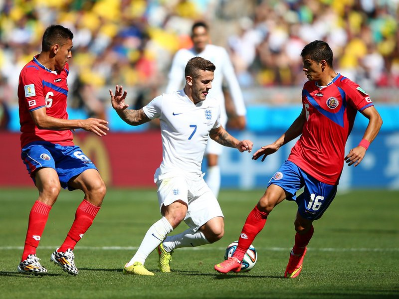 049 -  8 X 6 Photo - Football - FIFA World Cup 2014 - England V Costa Rica Jack Wilshere