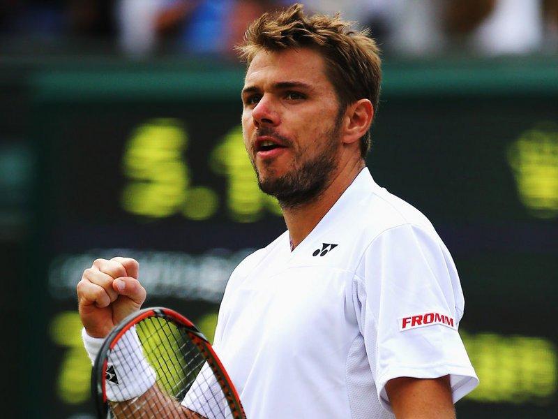 047 -  8 X 6 Photo - Tennis - Wimbledon Championship 2014 - Day 2 - Stan Wawrinka