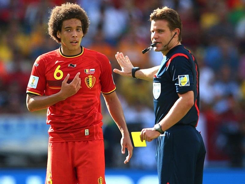 WC 0123 - 8 X 6 Photo - Football - FIFA World Cup 2014 - Belgium V Russia -  Axel Witsel Yellow Card