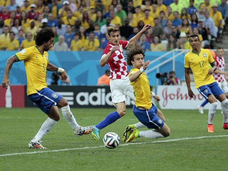 WC 0132 - 8 X 6 Photo - Football - FIFA World Cup 2014 - Brazil V Crotia - Marcelo  Own  Goal