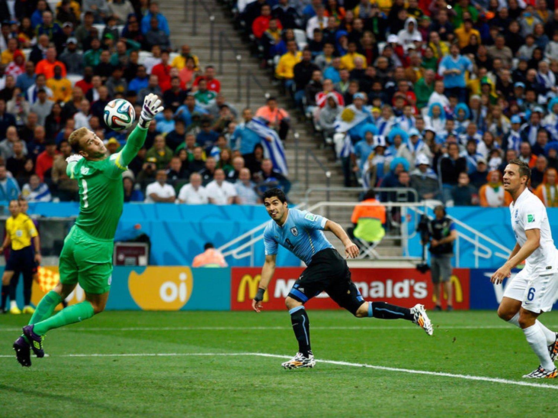 WC 0163 - 8 X 6 Photo - Football - FIFA World Cup 2014 - England V Uruguay - Luis Suarez Scoring