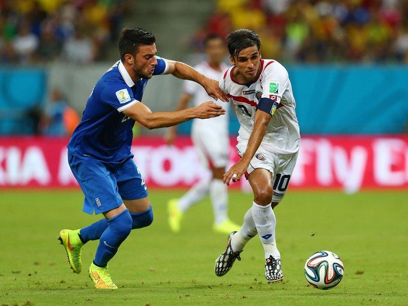 456 - 8 X 6 Photo - Football - FIFA World Cup - Costa Rica V Greece - Andreas Samaris