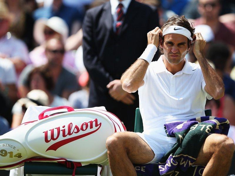 082 -  8 X 6 - Photo - Tennis - Wimbledon Championship 2014 - Day 8 - Roger Federer
