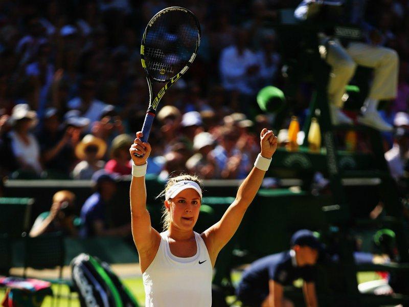 114 - 8 X 6 Photo - Tennis - Wimbledon Championship 2014 - Ladies Semi-Finals - Bouchard V Halep