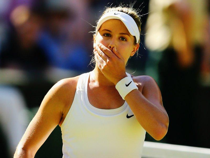 115 - 8 X 6 Photo - Tennis - Wimbledon Championship 2014 - Ladies Semi-Finals - Bouchard V Halep