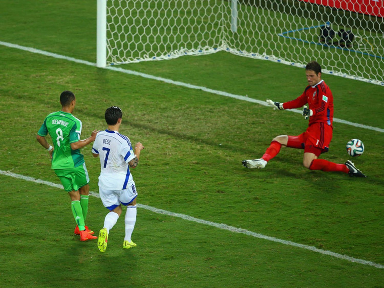 283 - 8 X 6 Photo - Football - FIFA World Cup 2014 - Bosnia V Nigeria - Peter Odemwingie Scores