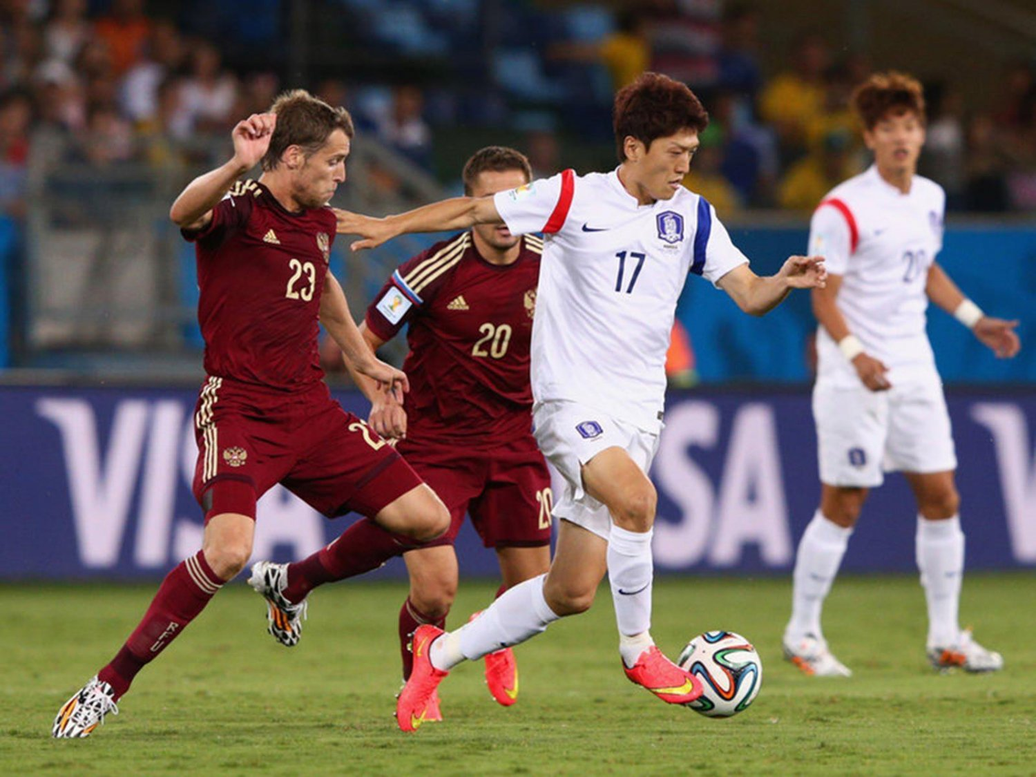 298 - 8 X 6 Photo - Football - FIFA World Cup 2014 - Russia V South Korea - Lee  Chung  Yong