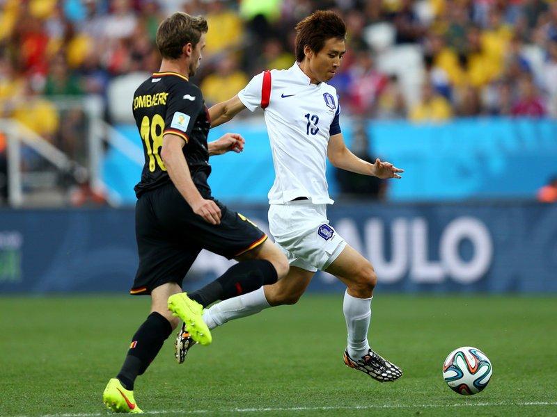 404 - 8 x 6 Photo - Football - Fifa World Cup 2014 - South Korea V Belgium