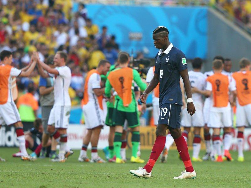 546 - 8 X 6 Photo - Football - FIFA World Cup - Germany V France -  Paul Pogba