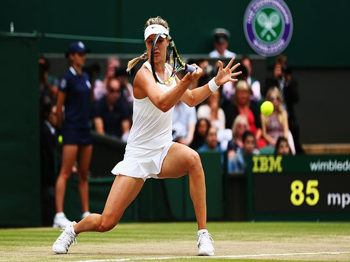 136 - 8 X 6 Photo -Tennis - Wimbledon Championships 2014 - Ladies Final - Kvitova V Bouchard