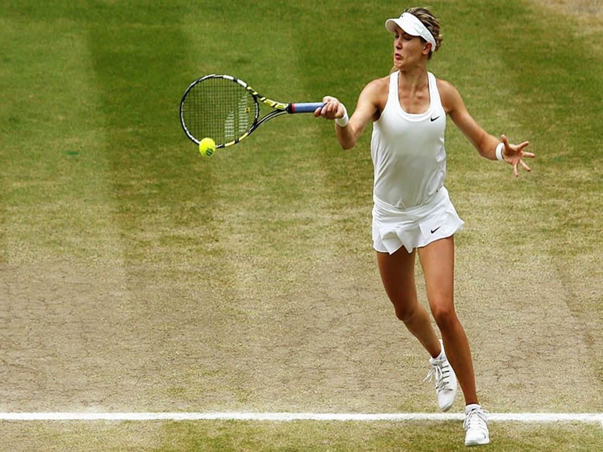 138 - 8 X 6 Photo -Tennis - Wimbledon Championships 2014 - Ladies Final - Kvitova V Bouchard