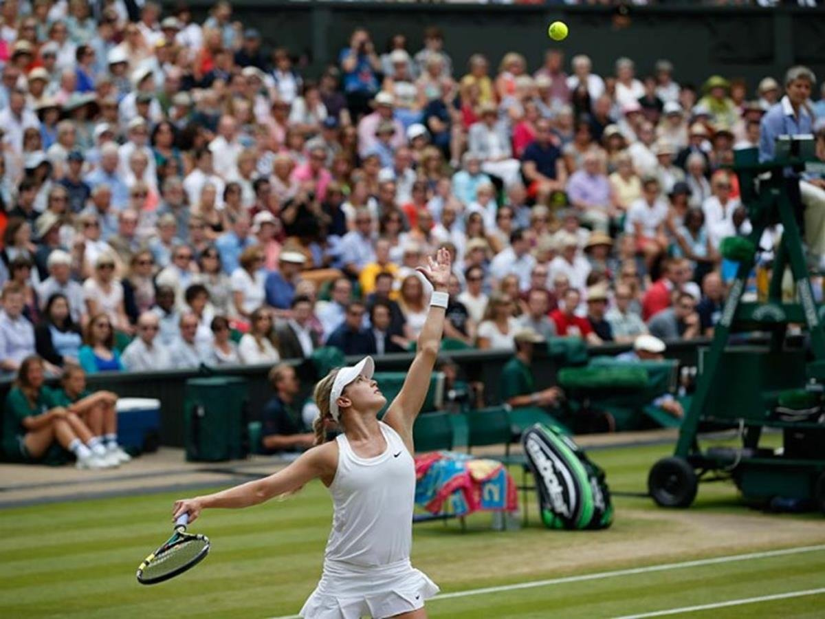 139 - 8 X 6 Photo -Tennis - Wimbledon Championships 2014 - Ladies Final - Kvitova V Bouchard