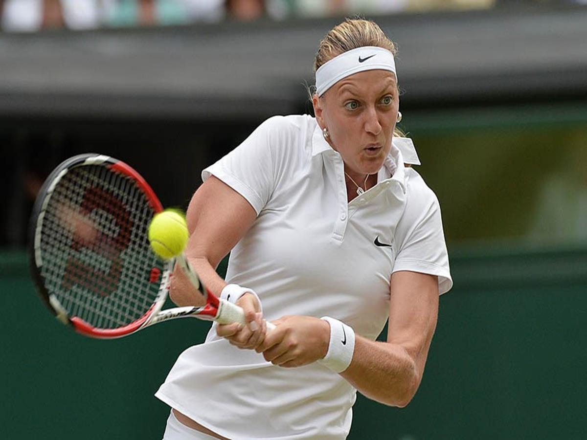 144 - 8 X 6 Photo -Tennis - Wimbledon Championships 2014 - Ladies Final - Kvitova V Bouchard