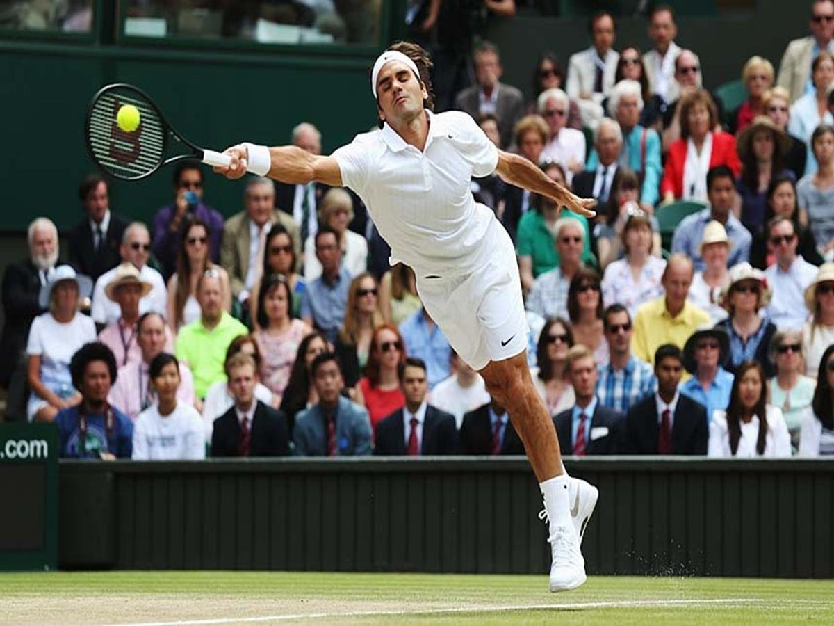 163 - 8 X 6 Photo - Tennis - Wimbledon Championship 2014 - Mens Final - Federer V Djokovic