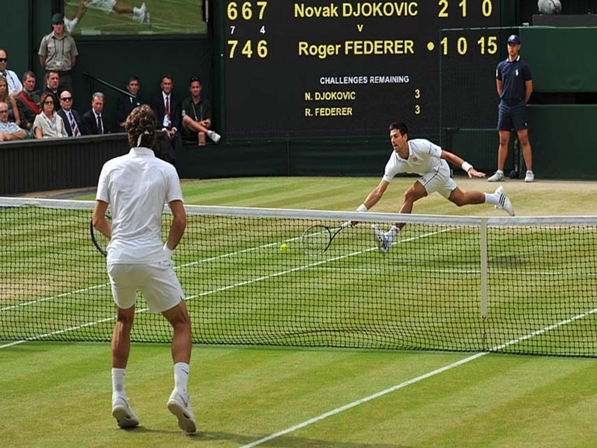 169 - 8 x 6 Photo - Tennis - Wimbledon Championship 2014 - Mens Final - Federer v Djokovic
