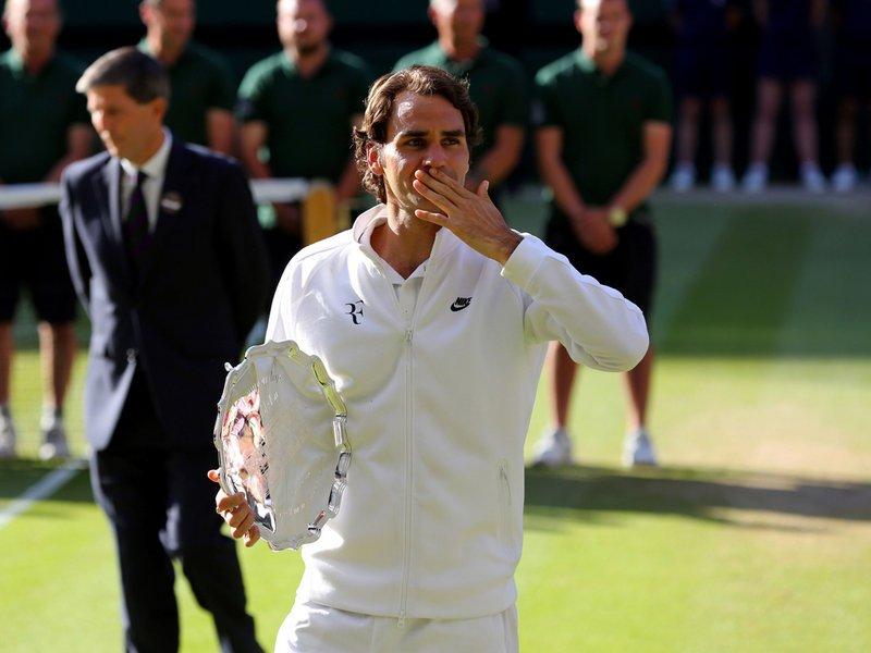 177 - 8 X 6 Photo - Tennis - Wimbledon Championship 2014 - Runner Up Roger Federer