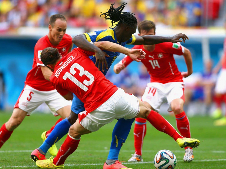 396 - 8 X 6 Photo - Football - FIFA World Cup 2014 - Switzerland V Ecuador - Ricardo  Rodriguez